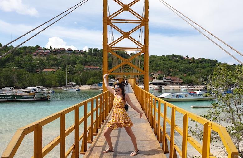 Gele brug nusa eilanden